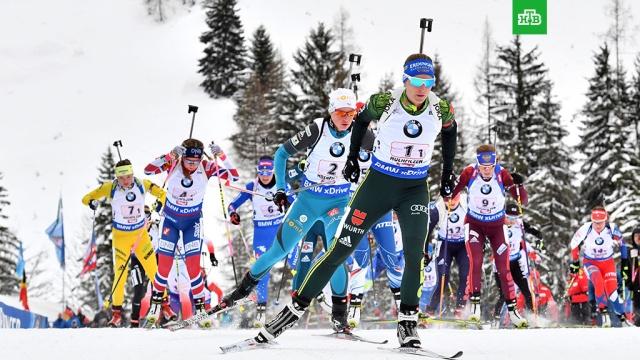 Россиянки стали четвертыми в эстафете на этапе КМ по биатлону