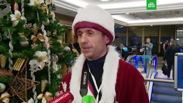 Дед Мороз и платье-экспонат: что осталось за кадром пресс-конференции Путина