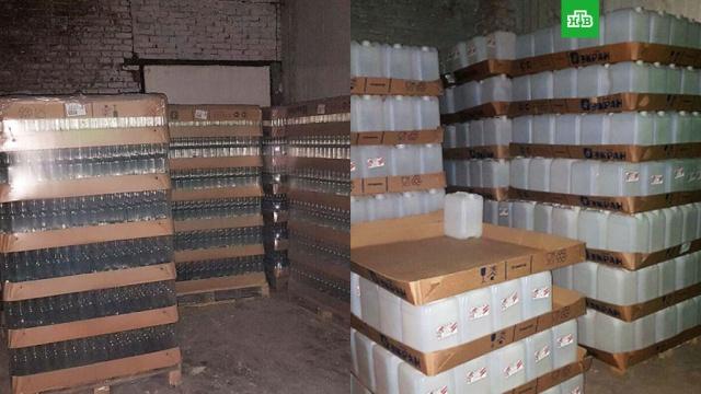 В Кемерове изъяли 31 тонну контрафактного алкоголя