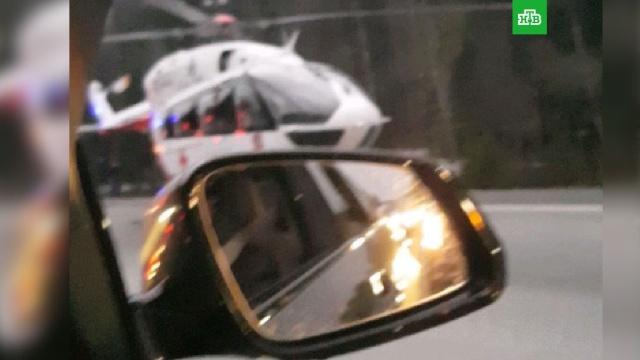 С места аварии на Киевском шоссе эвакуировали шесть раненых, среди них дети