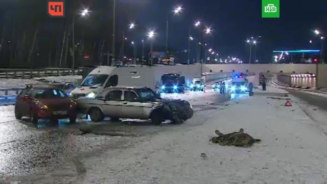 Пять машин столкнулись на Калужском шоссе в Москве