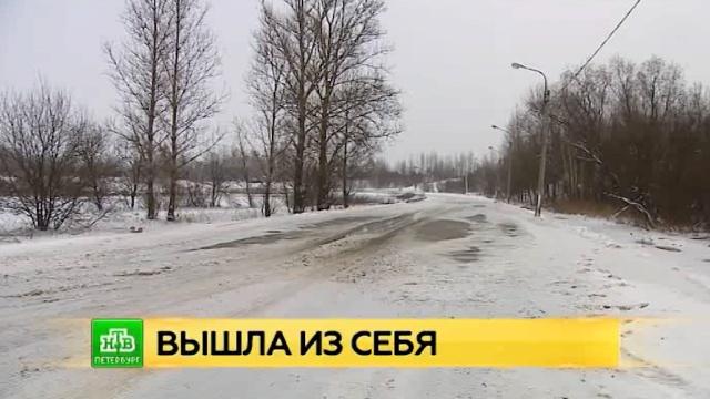 Разлившаяся Ижора привела к пробкам и перекрытию дорог в Петербурге