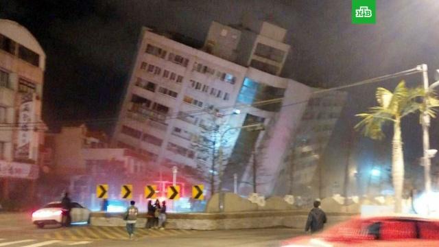 При землетрясении на Тайване пострадали более 100 человек