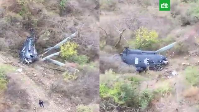 В Мексике разбился полицейский вертолет