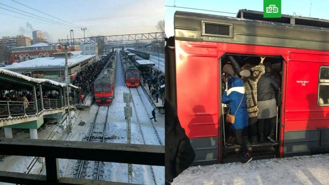 На Киевском направлении МЖД произошел сбой в движении электричек