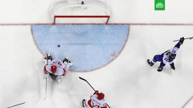Российские хоккеисты уступили словаками на старте Олимпиады