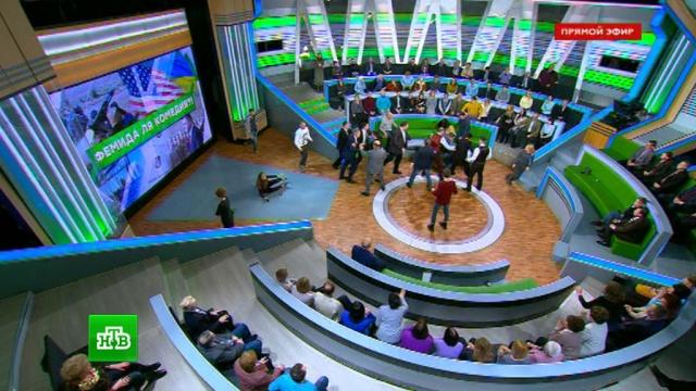 Хамство украинского политолога спровоцировало драку в студии НТВ