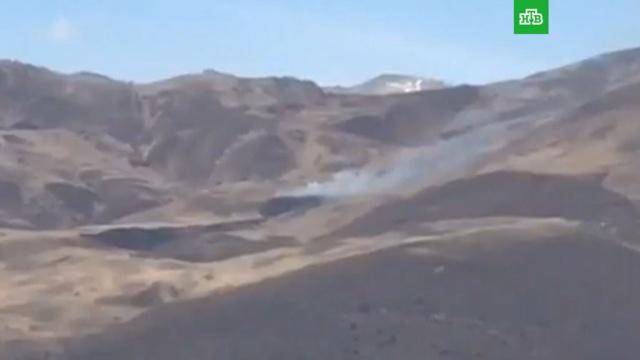 Разбившийся в Чечне Ми-8 сняли на видео
