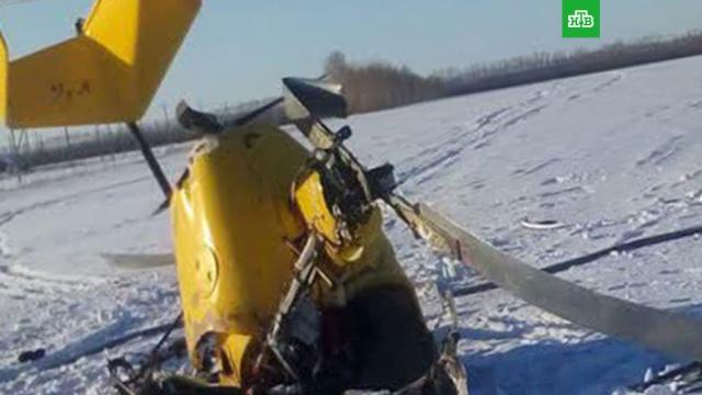Под Новосибирском разбился самодельный самолет, пилот погиб