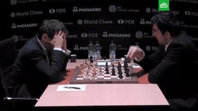 Крамник победил Ароняна в 3-м туре турнира претендентов на шахматную корону