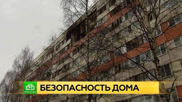 При взрыве газа в Петербурге несущие конструкции дома не пострадали