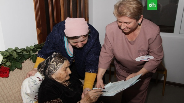 Старейшая россиянка проголосовала на выборах президента в Кабардино-Балкарии