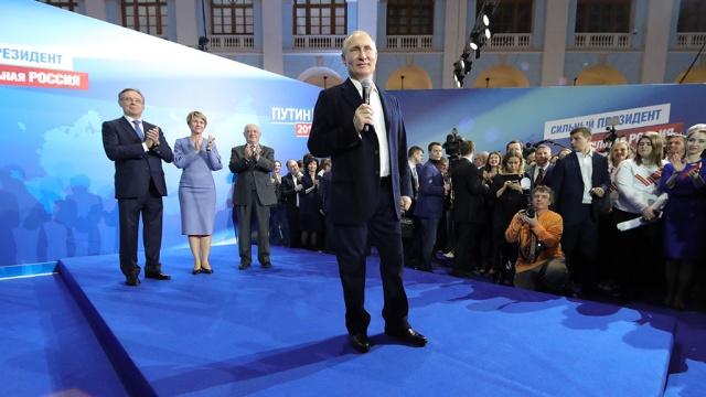 После обработки 99,84% протоколов Путин набрал 76,66%