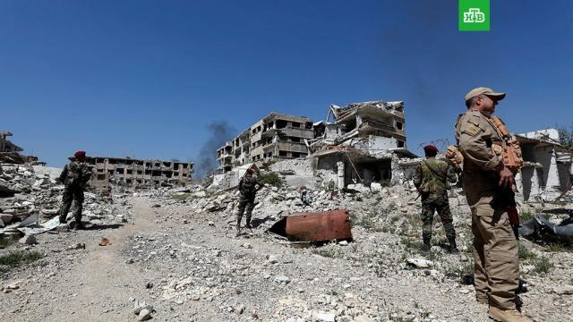 минобороны восточной гуте находят оставленные боевиками склады боеприпасов