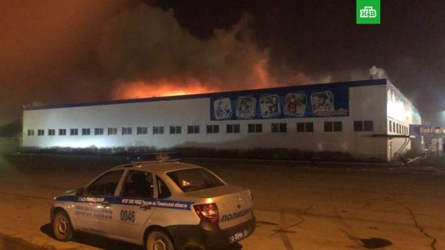 Масштабный пожар в тюменском гипермаркете детских товаров локализован