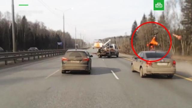 Водитель-стример запечатлел страшное ДТП в Подмосковье: видео