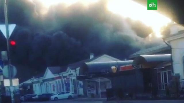 В центре Нальчика на рынке произошел крупный пожар