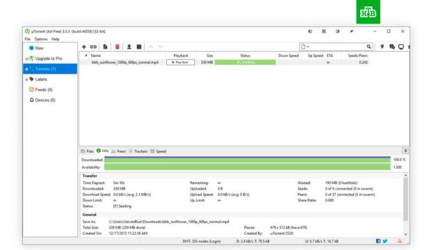 Windows начала блокировать программу uTorrent