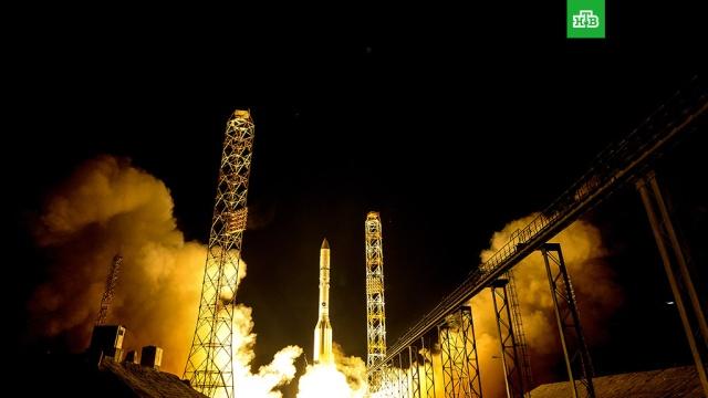 Ракета Протон с российским военным спутником стартовала с Байконура