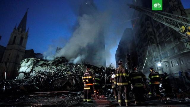 Пожар в высотке в Сан-Паулу начался из-за семейной ссоры