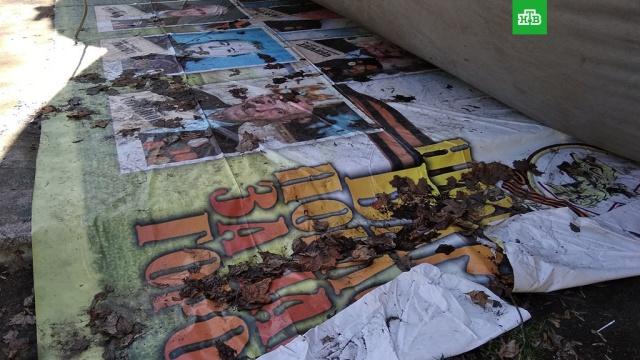 В Орле аттракцион установили на плакаты с ветеранами: фото