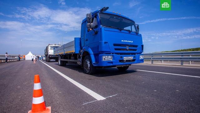 На трассе у Крымского моста испытали российские беспилотные автомобили: видео