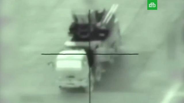 Израильским ударом уничтожен комплекс Панцирь сирийской армии: видео