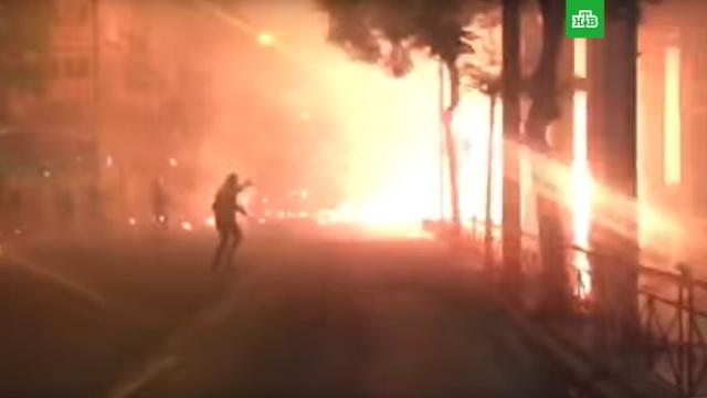 В Афинах происходят столкновения анархистов с полицией