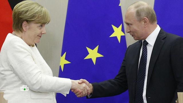 Эксперты обратили внимание на многообещающую улыбку Меркель на встрече с Путиным