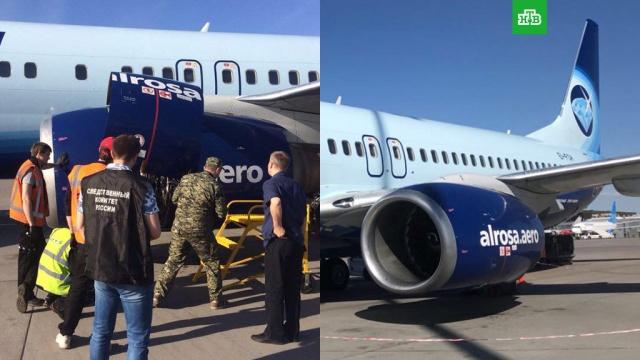 В Пулково у самолета с 156 пассажирами отказал двигатель во время взлета
