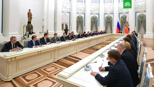 Путин пожелал правительству энергии на выполнение судьбоносных для страны задач
