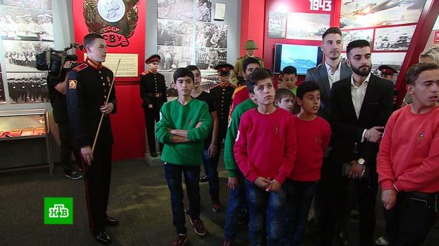 В Туле сирийских детей тепло встретили воспитанники Суворовского училища