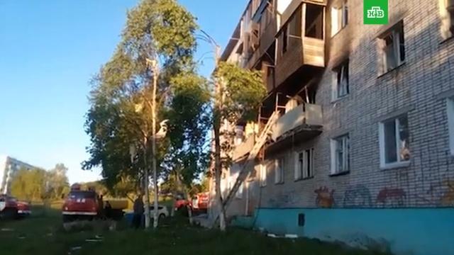 МЧС: потушен пожар в пятиэтажке, где произошел взрыв газа