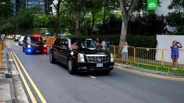 Трамп выехал из отеля на встречу с Ким Чен Ыном