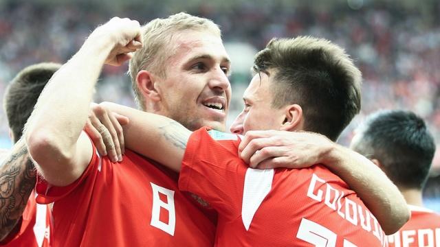 Сборная России в первом тайме забила два мяча в ворота Саудовской Аравии
