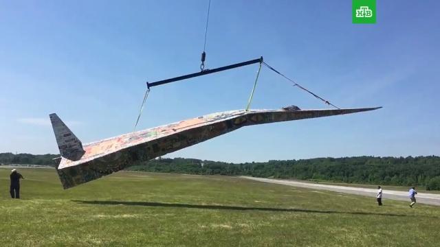 В США подняли в воздух самый большой в мире бумажный самолет