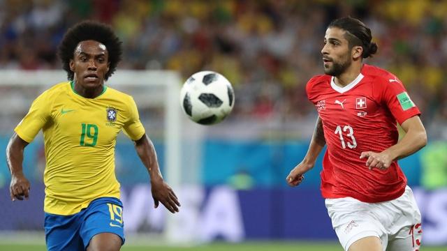 Сборная Бразилии сыграла вничью с командой Швейцарии в матче ЧМ-2018