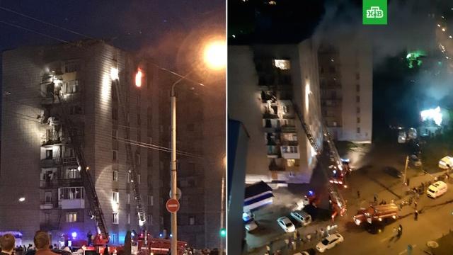 В Томске два человека выбросились из горящей многоэтажки, один выжил