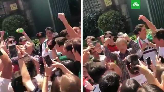 Благодарные мексиканцы напоили текилой корейского генконсула: видео