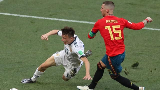 1/8 финала ЧМ: Испания — Россия