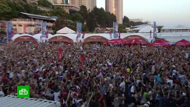 В российских городах победу над Испанией песнями и танцами праздновали до утра