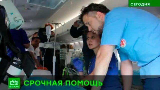 Центроспас доставил в Петербург тяжелобольных детей из Крыма и Ростова-на-Дону