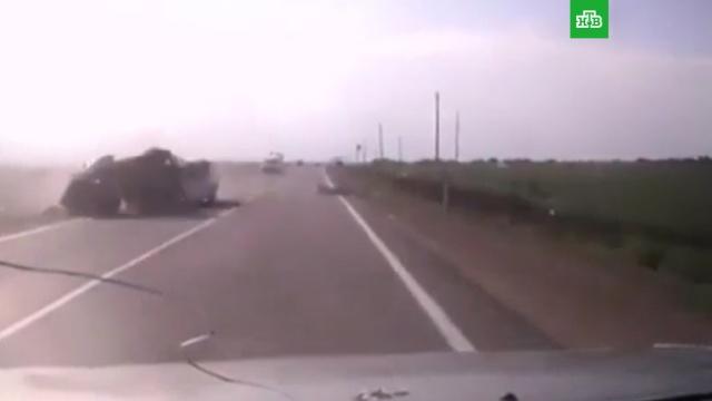 Момент ДТП с 9 погибшими на Кубани попал на видео