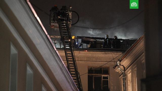 Открытое горение в жилом доме в центре Москвы ликвидировано