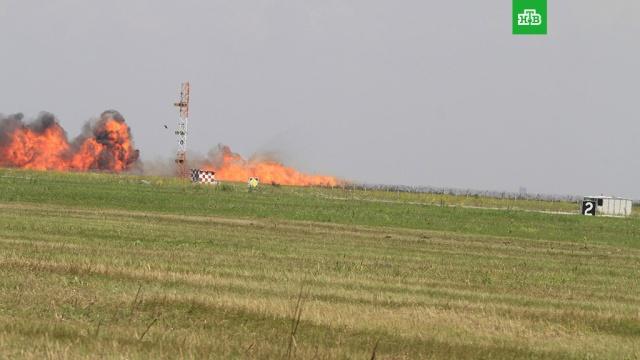 МиГ-21 рухнул во время показательного полета в Румынии
