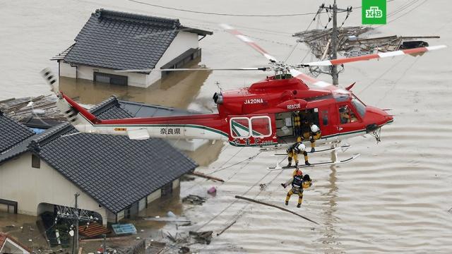 Число жертв наводнений в Японии возросло до 112 человек