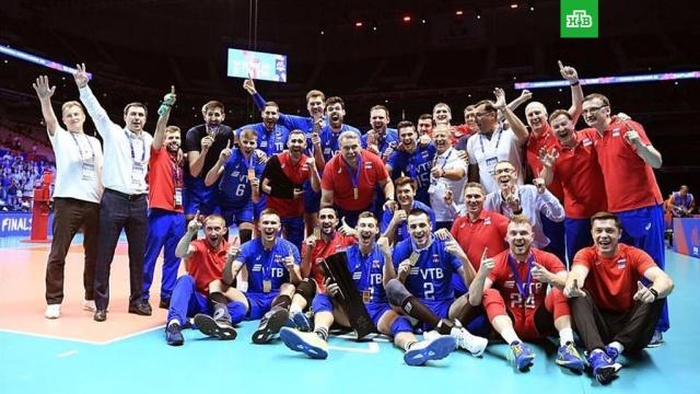 Российские волейболисты стали первыми победителями Лиги наций