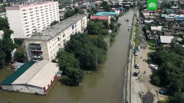 Затопленную после паводка Читу сняли с квадрокоптера