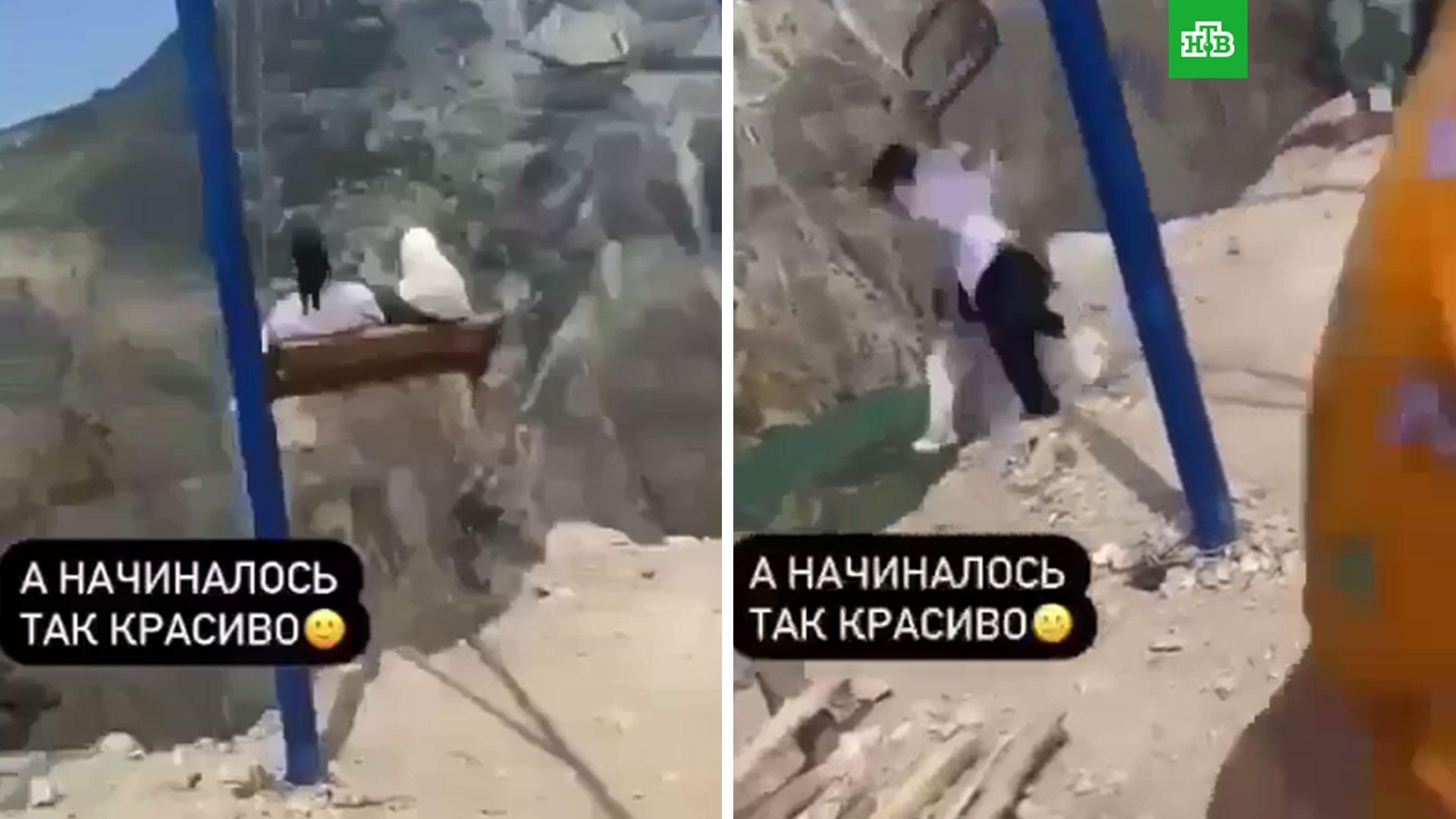 Экстремальные качели: в Дагестане две туристки сорвались и ...